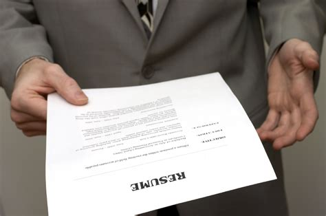 Handing In A Resume by