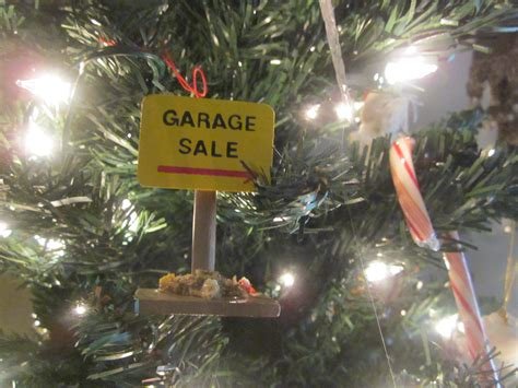garage sale christmas tree ornament yard sale mom
