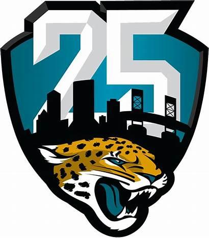 Jaguars Jacksonville Anniversary Nfl Season Clipart Logos