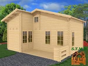 Vente Chalet Bois Habitable : chalet bois habitable en kit mod le orme 33 m2 avec mezzanine ~ Melissatoandfro.com Idées de Décoration