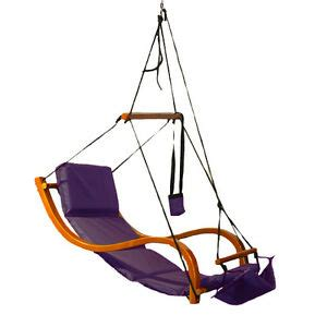 Hammock Air Chair by Purple Lounger Air Swing Hammock Chair Wooden Deluxe