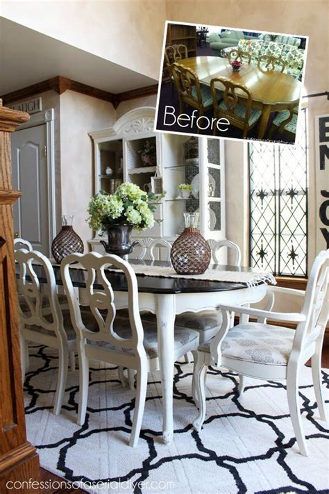 white painted dining table and chairs 7174