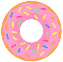 Donut with Sprinkles Clip Art