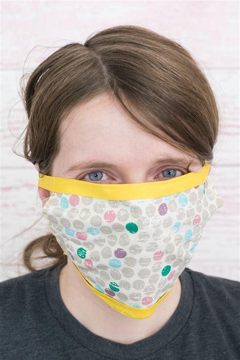easy diy face mask  ties bias tape  ribbon