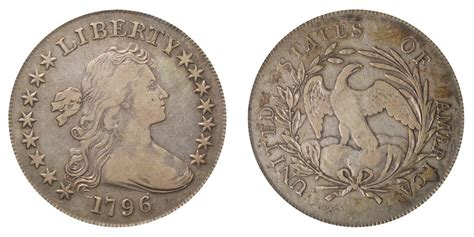 1796 Draped Bust Dollar - 1796 draped bust silver dollar large date small letters
