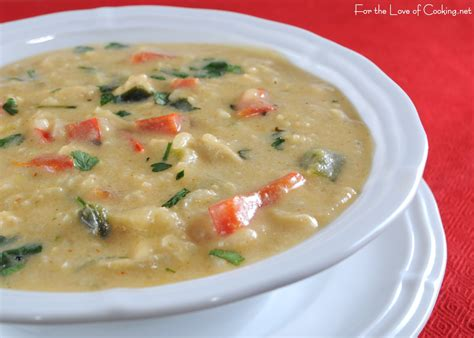 chicken soup recipe southwestern cream of chicken soup for the love of cooking