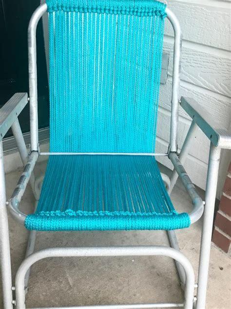 macrame  vintage lawn chair  tos diy