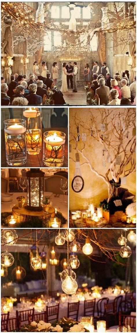 ideas  winter wedding decorations