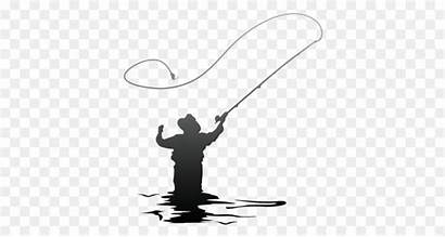 Fishing Fly Fisherman Clip Silhouette Clipart Svg