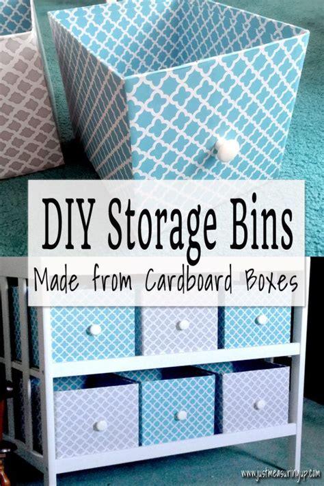 making customized storage bins  cardboard boxes diy