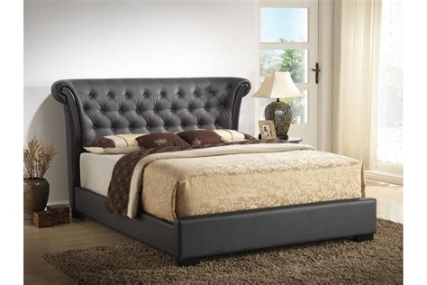 size upholstered headboard beds risque brown upholstered size bed