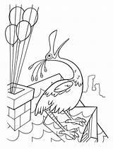 Bird Coloring Roof Colorare Disegni Tetto Luccello Dach Dachu Ptak Sul Vogel Dem Kolorowanka Russell Odlot Colorear Dibujos Loiseau Toit sketch template