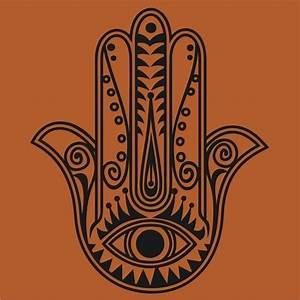 hamsa wall decal sticker vinyl art traditional art evil eye
