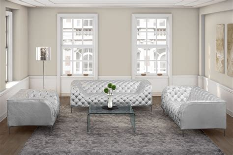 providence silver living room set from zuo mod