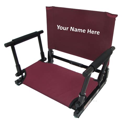28 embroidered personalized stadium seat by