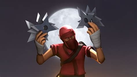 ninja star team fortress  skins scout flying
