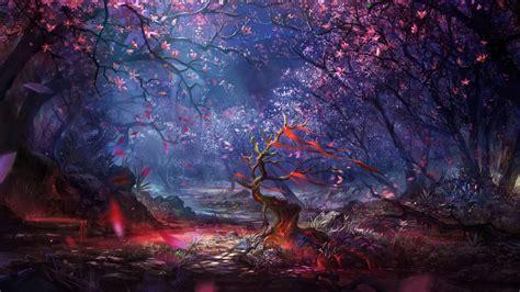 artwork, Fantasy art, Digital art, Forest, Trees, Colorful ...