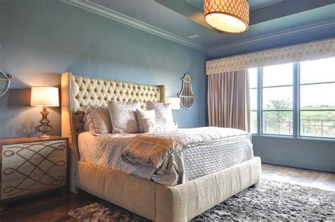 spanish colonial modern bedroom dallas  braswell