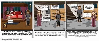 Macbeth Comic Strip Act Storyboard Storyboards