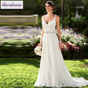 Vestidos de novia sexy flowing chiffon beach wedding dress for Flowing beach wedding dresses
