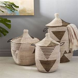 West Elm Outdoor Lighting Graphic Woven Baskets Black White West Elm