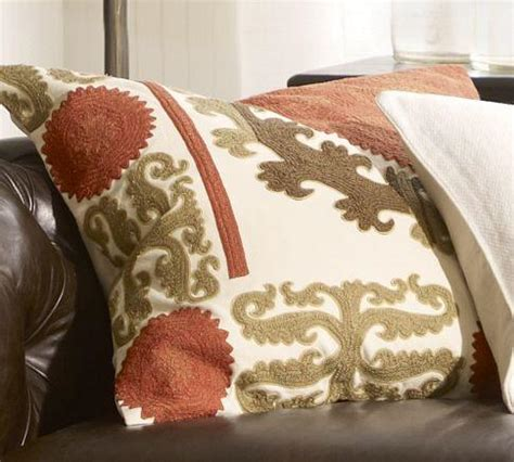 suzani embroidered pillow cover warm pottery barn