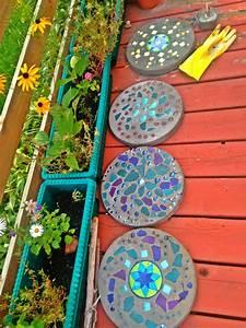 Garden, Stepping, Stones