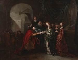 Marriage of Tobit and Sarah, (1669) by Gerrit de Wet ...