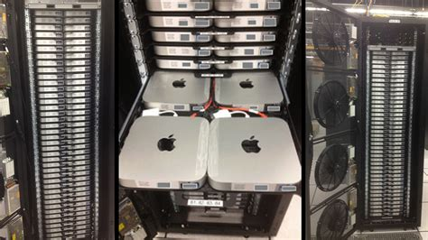 mac mini rack this custom data centre rack crams in 160 mac minis