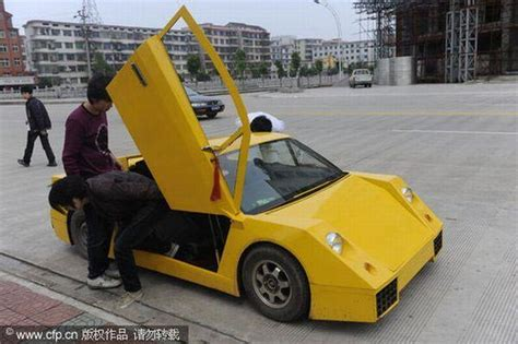 fake lamborghini vs real chinese man counterfeits lamborghini kind of