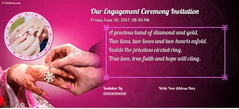 Free Engagement Invitation Card & Video Online Invitations