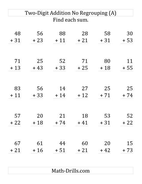 14 best images of 2 digit addition worksheets adding one