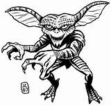 Coloring Pages Gremlins Horror Drawing Halloween Gizmo Adult Scary Sketch Colouring Rocky Sheets Movies Monster Gremlin Printable Bing Clipart Template sketch template