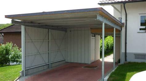 Garage Zu Groß Gebaut by Carport Aus Verzinktem Stahl Mit Trapezblech Dach Und