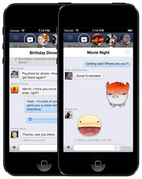 chat on iphone enable chat heads and stickers on iphone and