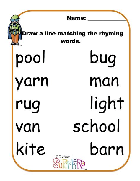 rhyming words worksheet for grade 2 rhyming words