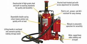 Strongway Air  Hydraulic Bottle Jack 20 16in
