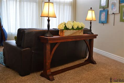 Narrow Sofa Table Plans by Narrow Sofa Table Tool Belt