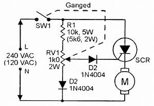 scr principles and circuits nuts volts magazine With ac motor speed controller circuit dc drill speed controller circuit dc