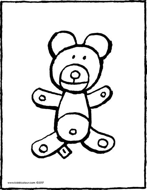 Kleurplaat Teddybeer by Teddybeer Kiddicolour