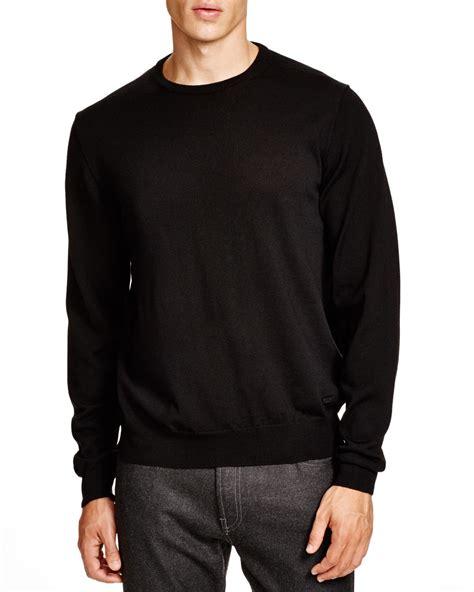 black sweater lyst armani sweater in black for