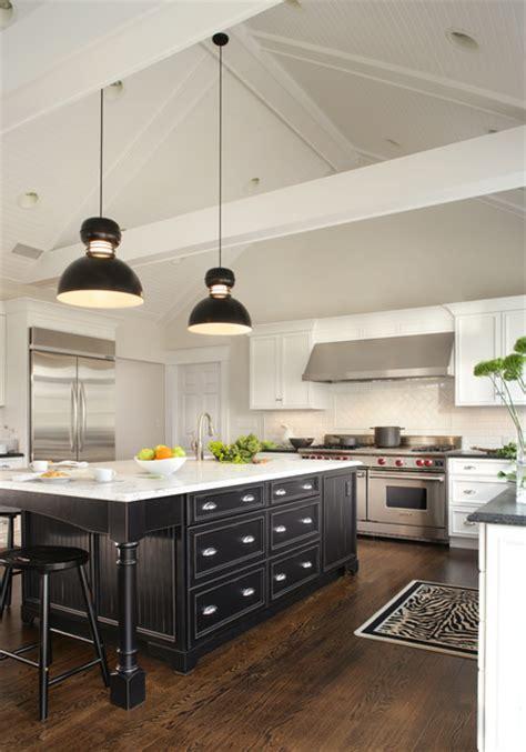 white  black  country kitchen