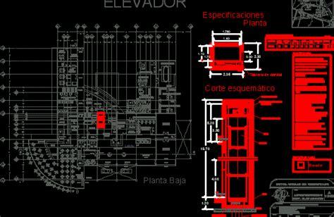 elevator hotel dwg section  autocad designs cad