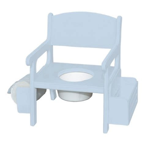 Wooden Potty Chairs For Toddlers by Baby Blue Wooden Potty Chair W Accessories Baby N Toddler
