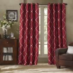 Geometric Pattern Curtains Uk by Buy Silk Curtain Panels From Bed Bath Amp Beyond