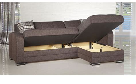 Futon Sectional Sleeper Sofa by Kubo Right Facing Sectional Sofa Storage
