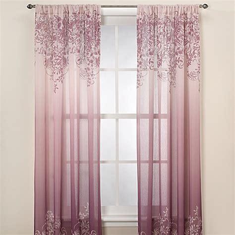Kas Elaina Plum Sheer Window Curtain Panel  Bed Bath & Beyond