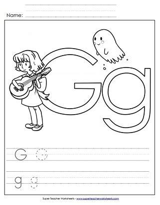 letter g worksheets recognize trace print