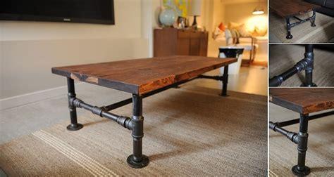 diy industrial coffee table home design garden