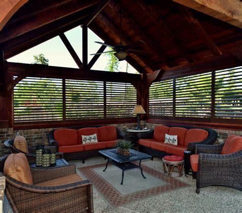aluminum shutters for patio weatherwell elite aluminum shutters rustic patio